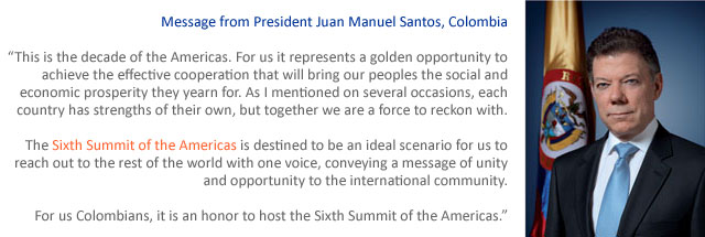 Message from President Santos